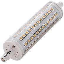 ALOTOA R7S Lampadina del LED Lamp Base, Dimmerabili, Alta Luminosità, 1100LM 3000K Bianco Caldo, 2835 SMD, Senza Flash, 118 Millimetri Double Ended, la Sostituzione della Lampada Alogena al Tungsteno, AC85-265V, 360 Gradi di Angolo a Fascio Base della Lampada R7S (10w, Warm White)