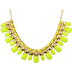 """DIOVANNI """"Neon Lights of Summer"""" Gemstone Necklace"""