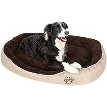 Songmics Cama para perros gatos mascotas ovalada Cojín reversible XL: 105 x 75 x 15 cm PGW44M
