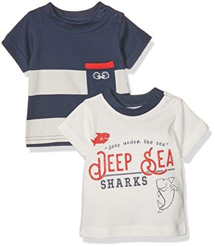 Twins Baby-Jungen T-Shirt 2er PACK, Mehrfarbig (Mehrfarbig 3200), 68 (Jungen 6 Größe Kurzarm-shirts)