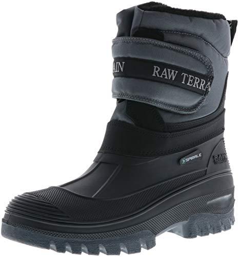 Spirale Damen Herren Winterstiefel Snowboots dunkelgrau/schwarz, Größe:43, Farbe:Grau