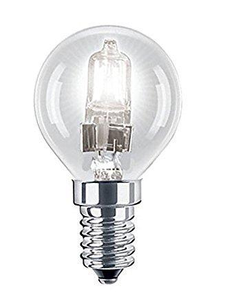 3Stück P45Golf Ball/Mini Globe Eco Halogen 28W = 37W dimmbar Energy Saver Leuchtmittel E14SES Kleine Edison Schraube Gap 240V 28W -