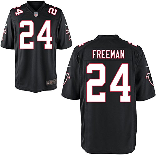 Preisvergleich Produktbild 24 Devonta Freeman Trikot Atlanta Falcons Jersey American Football Shirt Mens Elite Black Size L(44)