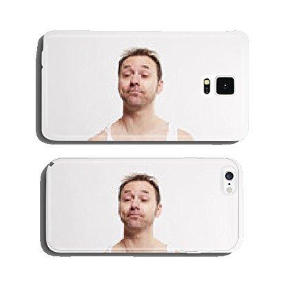 Image of Mann wacht aus dem Schlaf auf cell phone cover case Samsung S5
