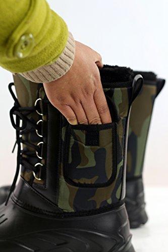 S&L , Herren Stiefel Army Green - Black