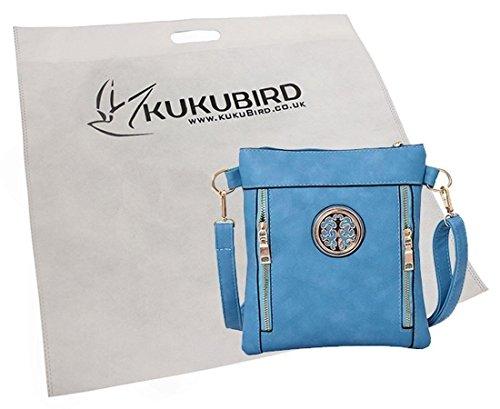 Kukubird Emma Pannello Design Anteriore Medaglione Abbellimento Crossbody Con Sacchetto Raccoglipolvere Kukubird Yellow Brown