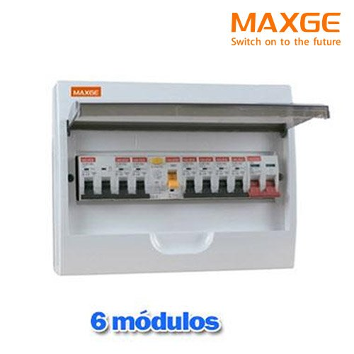 Caja distribucion electrica Superficie IP30 de 6 modulos Blanco