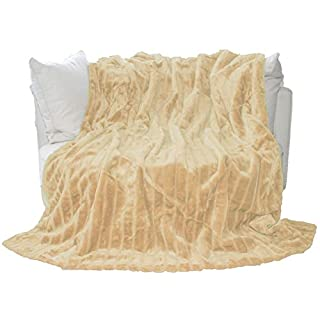 AURO Furry Cushion Cover - light brown
