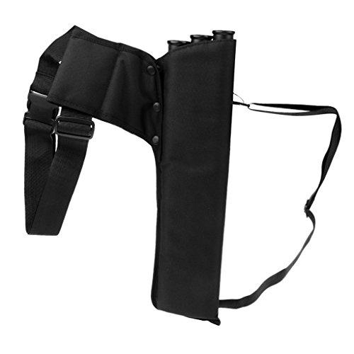 Sharplace 3-Röhrenköcher Pfeile Halter mit Schultergurt Bogenschießen Pfeilköcher - Schwarz - Halter Pfeil