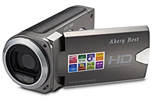 ABERG BEST HD Digital Video Camera - 8 mega pixels 720P HD Digital Camera - 2.7 inch LCD Screen - Students Camcorder - Handheld Sized Digital Camcorder Indoor Outdoor for Seniors / Teens / Unisex Children / Kids (gray)