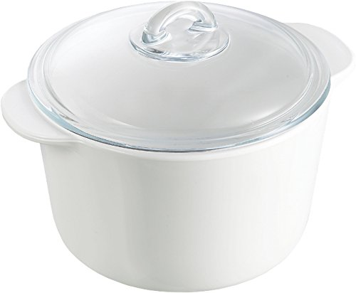 Pyrex Flame Casserole with Lid, 2.0L