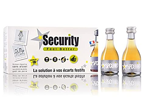 Security Feelbetter, boisson bienfaitrice des écarts festifs. Carton de 10