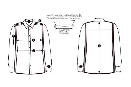 Eterna - Gala - Modern Fit - Bügelfreies Herren Hemd mit Kent Kragen und Umschlagmanschette in Weiß (8500 X487) Weiß (00)