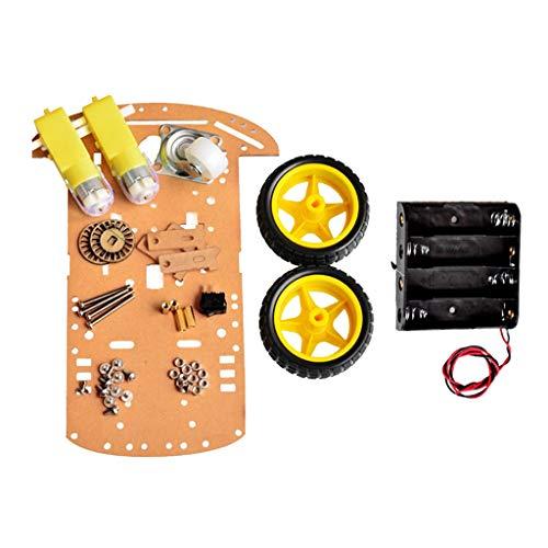 F Fityle Roboter-Fahrgestell 2wd Auto-Arduino-Intelligente Kodierer-Batterie für Arduino - Fahrgestell