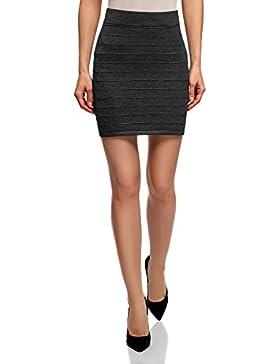 oodji Ultra Mujer Falda Básica de Punto Texturizado