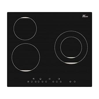 Table de cuisson vitrocéramique TCVS521N Noire Sensitive