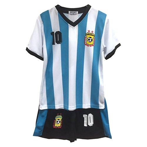 Fußball Sommer Shorts Jungen neu Mädchen-Weste Kit Set Größe Alter 2-12 Jahre BNWT - Größe Kleidung Jungen 5