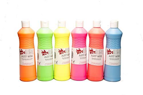 Scola Artmix 6 x 600 ml de pintura, colores surtidos