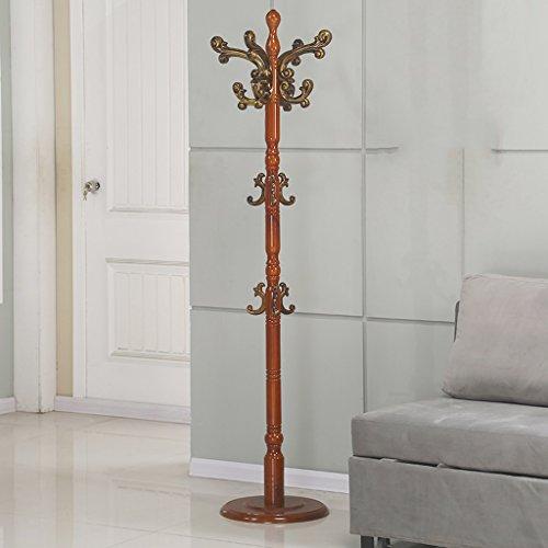 SKC Lighting-Porte-manteau Sol solide bois porte-manteau de style européen Assemblée vêtements étagère salon multi-usage cintre (Couleur : Begonia color)