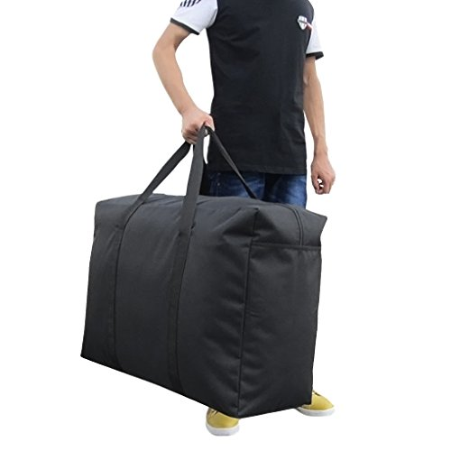 Extra Large Black Handy Storage Bag Waterproof Foldable Home Organizer Travel Duffle Luggage Cargo Bag Suitcase Tote