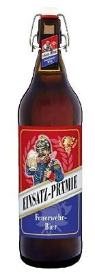 Feuerwehr Bier 1 Liter Flasche mit Bügelverschluss