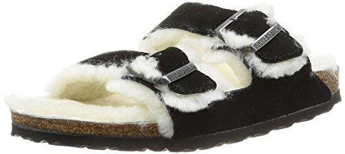 Birkenstock Arizona Fur, Chaussures de Piscine et Plage Femme Beige (Fell VL Taupe)