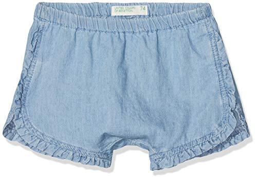 United Colors of Benetton Baby-Mädchen Shorts Blau (Blu Chiaro 902) One Size (Herstellergröße: 62) (Chambray Shorts Mädchen)