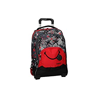 41p6ngpGU6L. SS324  - Smiley World Mochila rojo bolsa de ocio escolar con la carretilla VZ733
