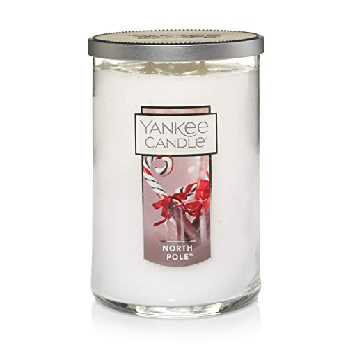 Yankee Candle Yankee candle large jar 2 wick north pole scented tumbler premium grade candle wax with up to 110 hour burn time