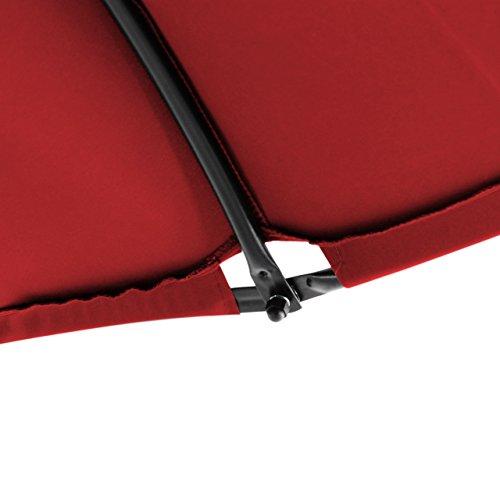 Nexos ZGC34352 Luxus Schwebeliege rot Schwingliege Relaxliege Hängeliege Sonnenliege Hängeschaukel inklusive Sonnenschirm - 5