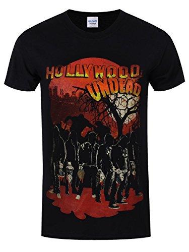 Plastichead Herren T-Shirt Hollywood Undead Faceless Horror Black