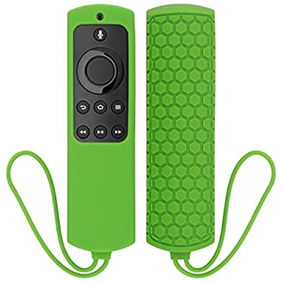 YOCOWOCO Soft Silicone Shockproof Case for 5.9 Inch Fire TV with 4K HD Alexa Voice Remote/Fire TV Stick with Alexa Voice Remote, Protective Dustproof Anti-Slip Washable Cover with Hand Strap
