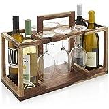 Priti Solid Wood Basket Bar Trolley for Bed & Garden