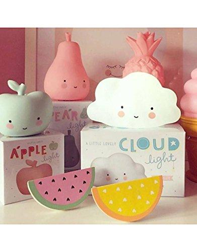 A Little Lovely Company–Lampada, a forma di nuvola, Colore: Bianco