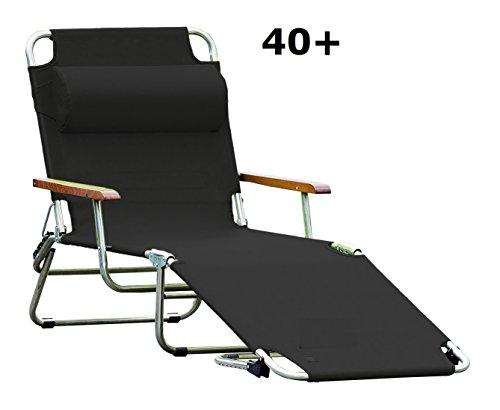 jan kurtz, amigo 40+ mit armlehnen, schwarz, sonnenliege, fiam, design Francesco Favagrossa,...