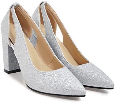 Qin&X Las Mujeres del Bloque Talón Señaló Toe Zapatos Boca Superficial