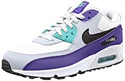 Nike Herren Air Max '90 Essential Gymnastikschuhe, Mehrfarbig (White/Black/Hyper Jade/Court Purple 103), 42.5 EU