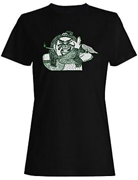 Arte divertido de la novedad del vintage del demon camiseta de las mujeres oo45f