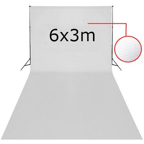 Studio Fondale Background Professionale Fotografico Sfondo Di Tessuto non tessuto -Bianco 6 × 3M per Ritratti Fotografia Video