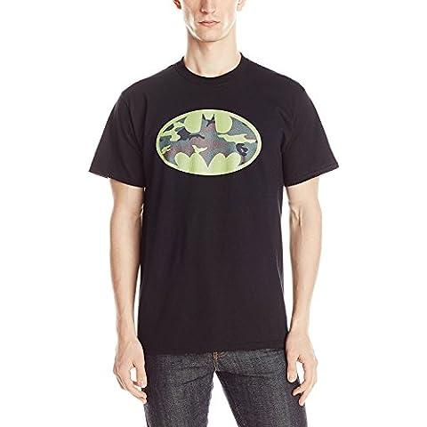 DC Comics Men's Batman Camo Logo T-Shirt