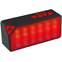 NGS Roller Flash - Altavoz con Bluetooth, color rojo