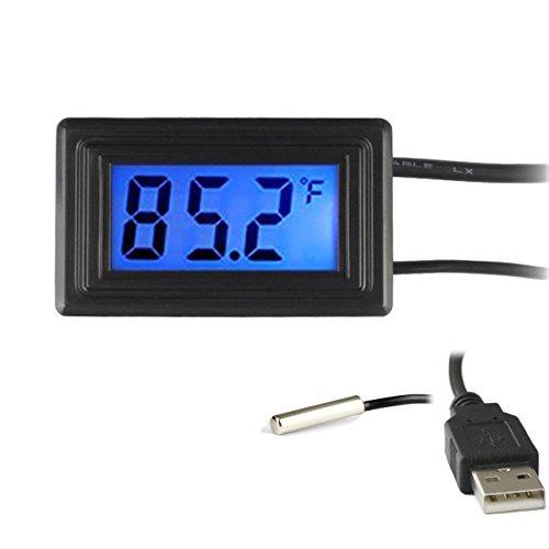 Keynice USB Termómetro digital Conversor de Grados Celsius / Fahrenheit DC 4-25V