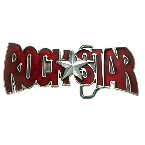 Hebilla Rock Star de color rojo, música Rock, hebilla para cinturón