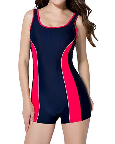 Costume da Bagno Intero Sportivo da Donna Ideale Per Endurance Blu Rosso