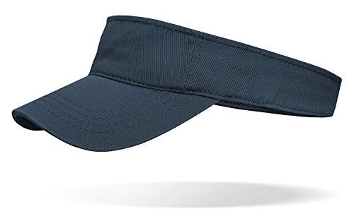 Sun visor Casquette Casquette ouverte avec fermeture Velcro Bleu - bleu marine
