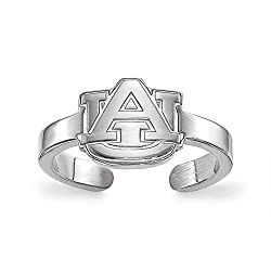 Sterling Silver LogoArt Auburn University Toe Ring