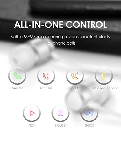 PALOVUE Earflow In-Ear Lightning Kopfhörer Magnetischer MFi Zertifizierter Ohrhörer mit Mikrofon-Controller für iPhone X/XS/XS Max/XR iPhone 8 / P iPhone 7 / P (Metallic Silber) - 6