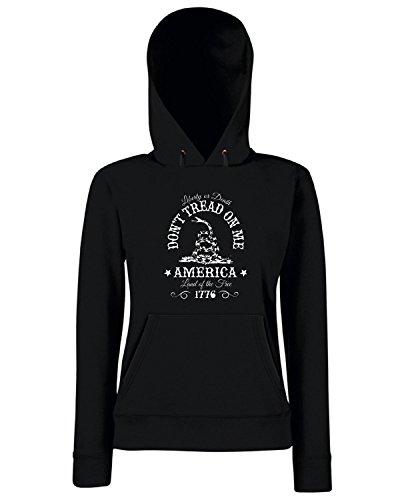 T-Shirtshock - Sweats a capuche Femme TM0686 dont tread on me Noir