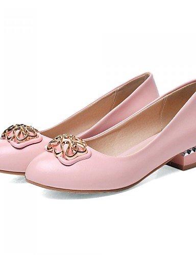 ZQ 5 Beige Rosa eu37 Kleid pink Wei Schwarz Halbschuhe 7 Kunstleder B篓鹿ro cn37 5 uk4 Niedriger Absatz L 5 Damenschuhe us6 Pumps ssig rqrPwORC