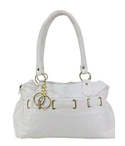 Nandini Home Women\'s Stylish Handbag ( White Bag )-NHP_8803